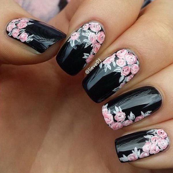 Amazing floral designs on black base