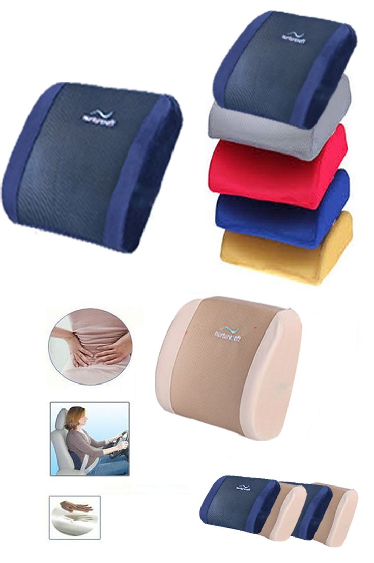 High density memory foam lumbar back support pillows get relief from back pain