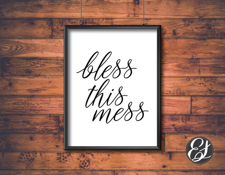 PRINTABLE Bless This Mess Wall Hanging   Wall Decor   Dining Decor   Kitchen Decor   Digital Art   Download File   Wall Art   Living Decor by ElgraphicsCanada on Etsy