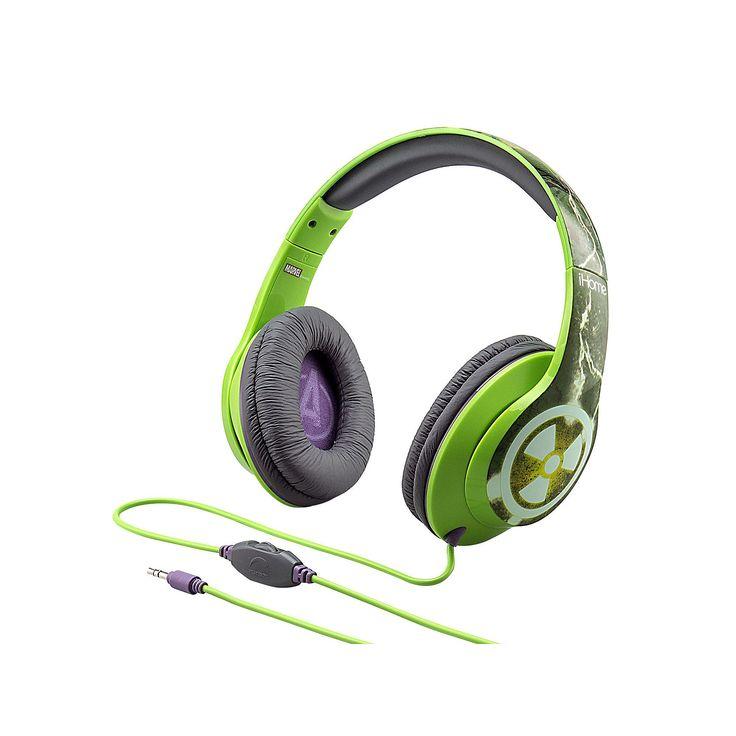 iHome Marvel The Incredible Hulk Character Headphones, Multicolor