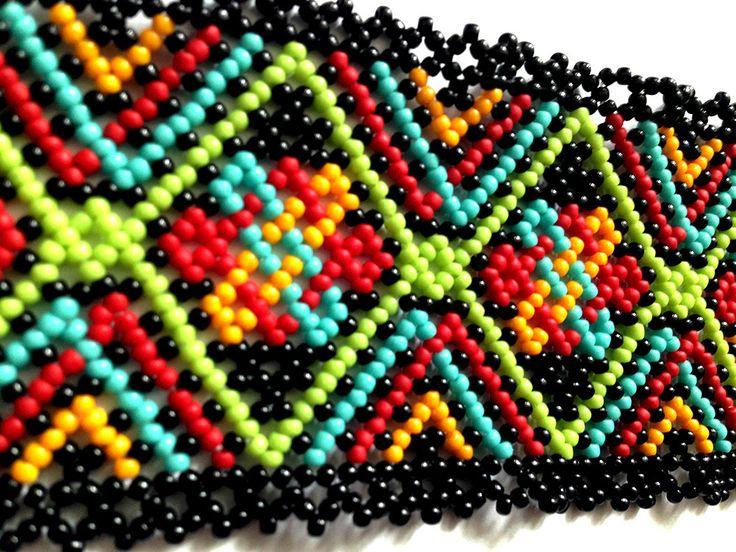 Boho huichol bracelet pattern by Vixenscraft on Etsy