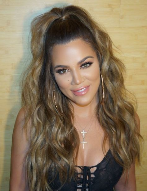Khloe Kardashian - HarpersBAZAAR.co Rich chocolate-y brown color shot through with caramel highlights