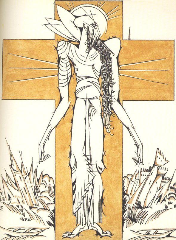 """Amadeo de Souza-Cardoso, """"La Légende de Saint Julien l'Hospitalier"""",  1912"""