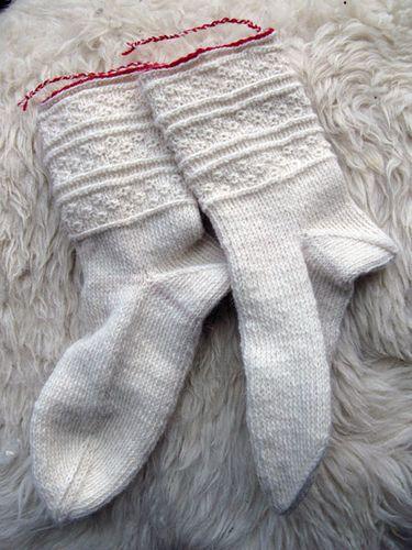 Ravelry: CarlaM's Mora socks in Twined Knitting