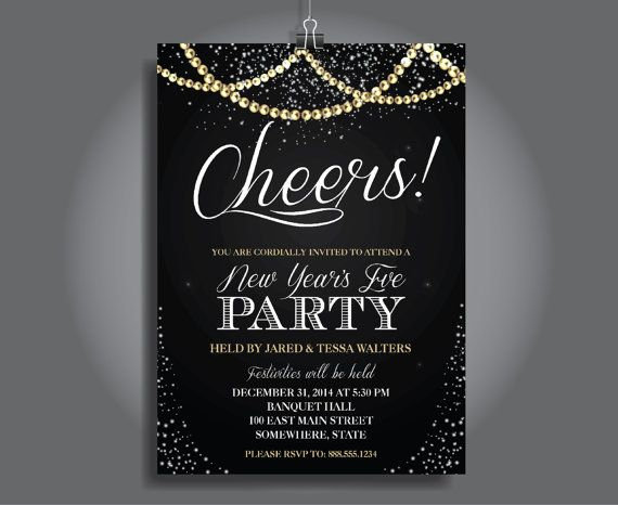 new years eve party invitation new years eve party invitation new years invite products in 2018 pinterest