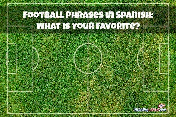 Football Phrases in Spanish
