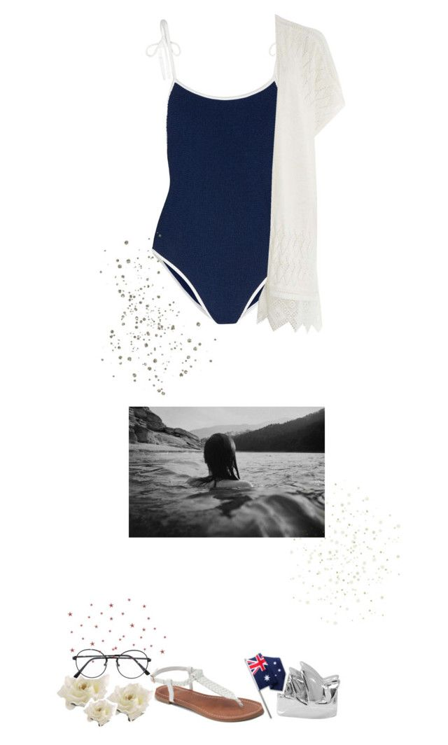 """💫 ADVANCE AUSTRALIA FAIR 💫"" by g-allifrey ❤ liked on Polyvore featuring Hunza G, Dorothy Perkins, De Buman, Apt. 9, country and zoesworldtripchallenge"