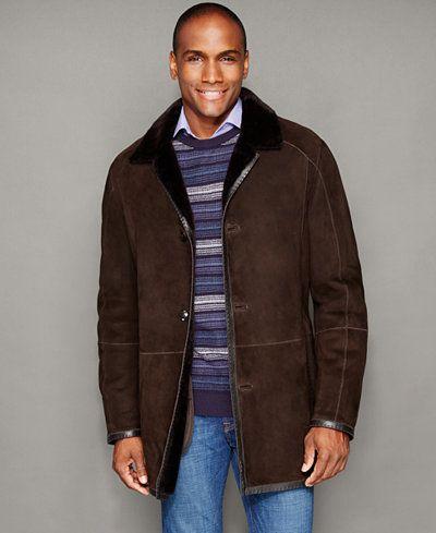 1,497.50$  Buy now - http://vikzu.justgood.pw/vig/item.php?t=q5rk933214 - Mens Shearling Button-Front Jacket 1,497.50$