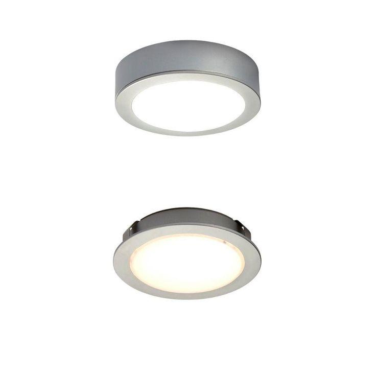 Sensio LED Aluminum (Silver) Cool White Round Puck Light