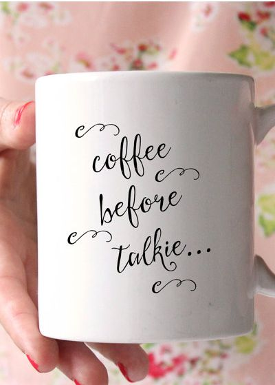 Coffee Before Talkie Mug - Listen, I don't make the rules...