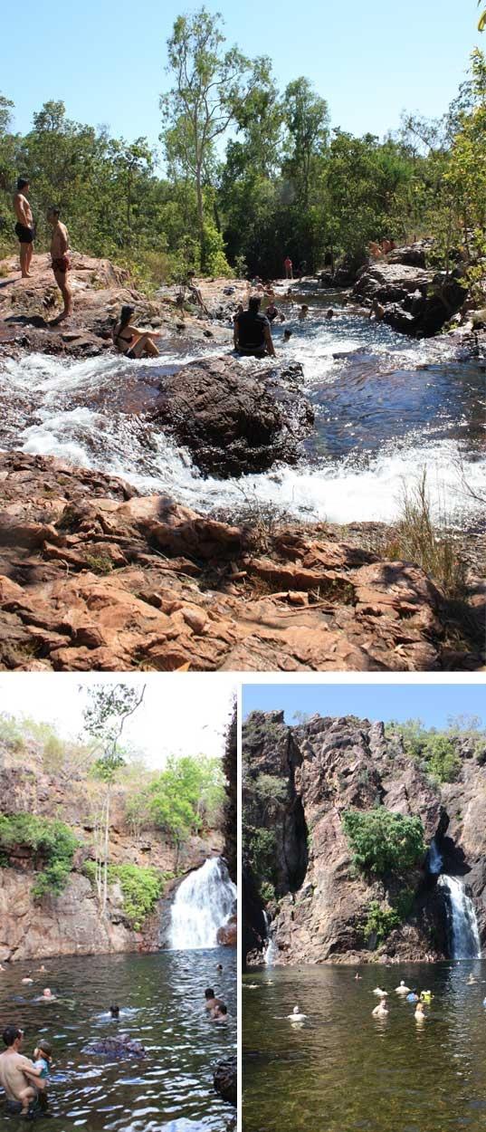Buley Rockhole, Florence Falls and Wangi Falls at Litchfield National Park, Northern Territiry, Australia