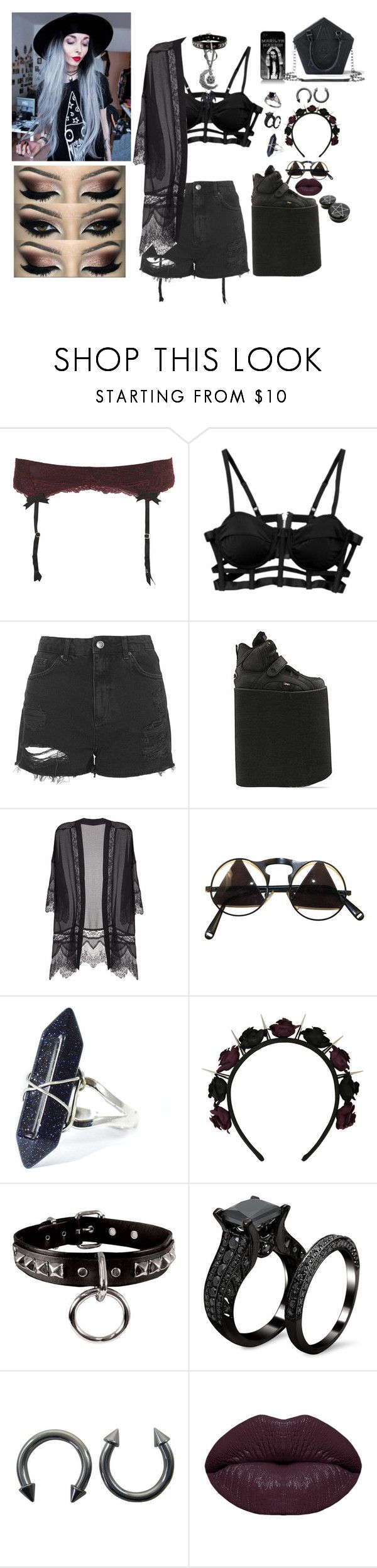 """""""Golden Days~Panic! At The Disco"""" by headbangingunicorn ❤ liked on Polyvore featuring Topshop, Buffalo, Lush Clothing, Winky Lux and Killstar"""