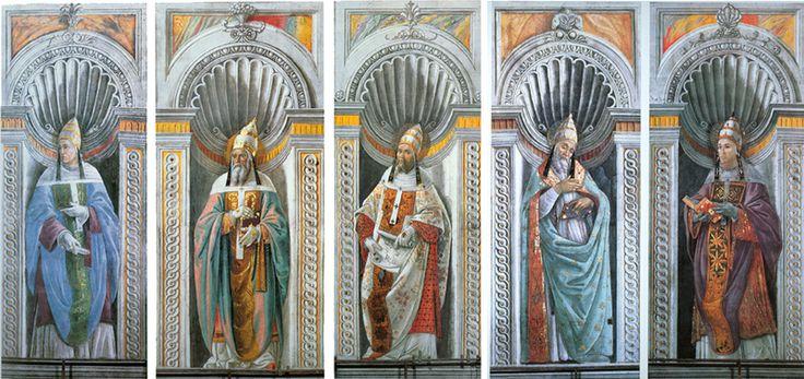 Ritratti di papi - 1481 ca. - affreschi - Città del Vaticano, Cappella Sistina