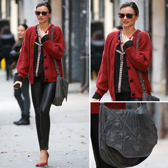 MIRANDA KERR DOES THE IMPOSSIBLE — MAKES LEATHER LEGGINGS LOOK COZY