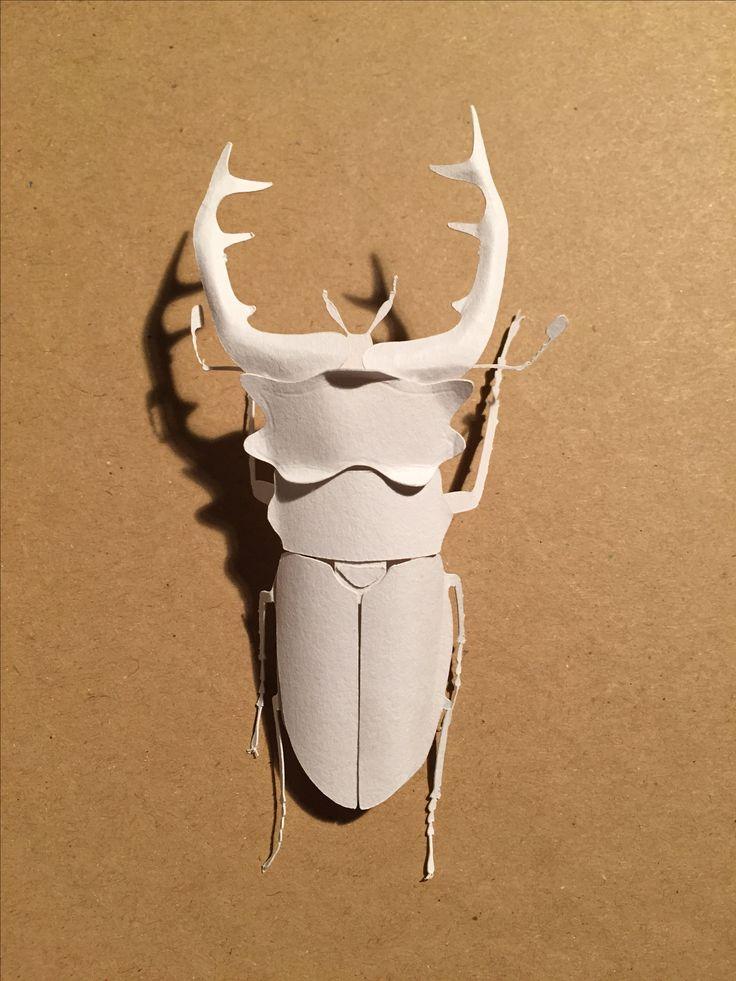 Stagbeetle made by Papernerd Charlotte Helmer
