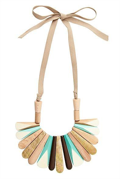 Colour Spliced Wood Necklace #Witcherywishlist