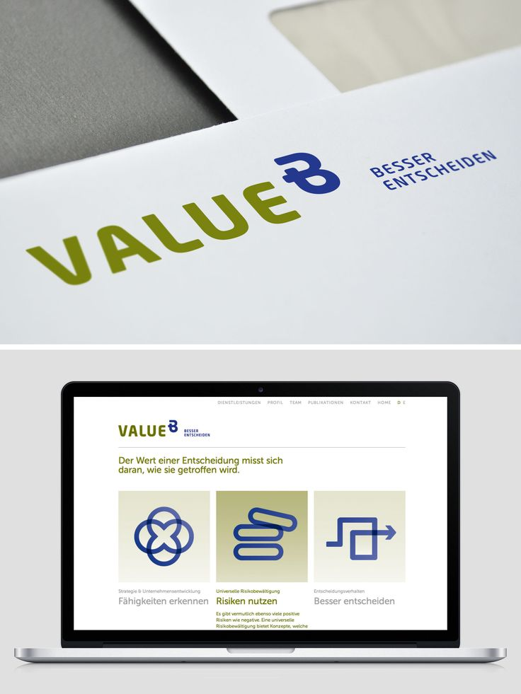 Identity and web design for consulting agency Value B
