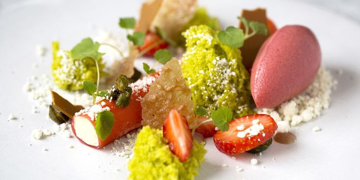 Lee Westcott creates a mind-blowingly intricate dessert of strawberry, pistachio and white chocolate