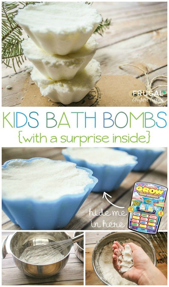 Essential Oils Homemade Kids Bath Bombs Recipe. You choose the scent. Adorable Bath Bomb Molds. Hide a surprise animal inside the mixer for the kids!