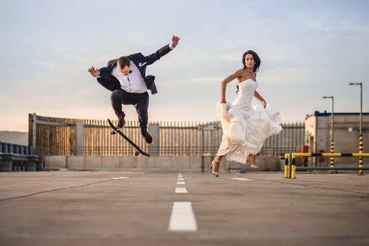 In motion - photo of my brother with wife