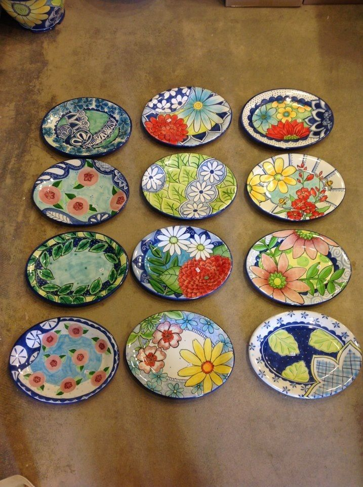 Damariscotta pottery plates