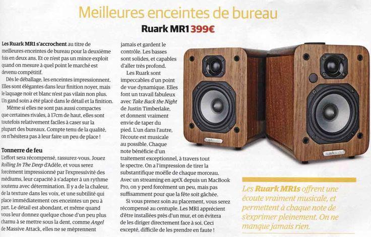 """Les enceintes sans fil MR1 de Ruark Audio ont été élues en novembre, """"Meilleures enceintes de bureau"""" par le magazine Whathifi.com. Découvrez pourquoi avec le banc d'essai en français dans l'édition de décembre 2014 et les MR1 sur ruarkaudio.fr !"""