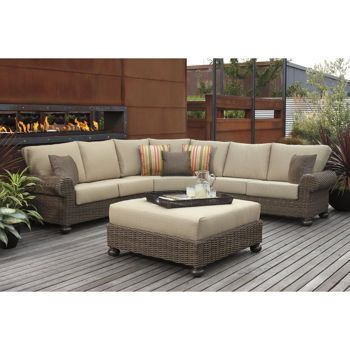 Costco pacific casual jakarta 4 piece woven sectional set for Outdoor furniture jakarta