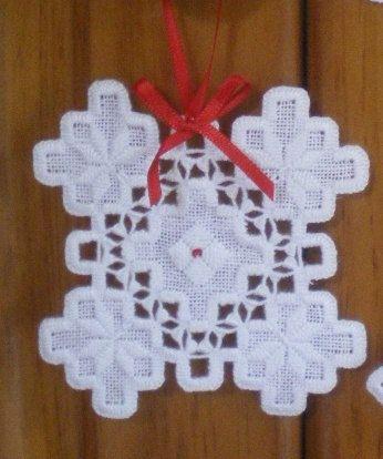 Adorno de vacaciones Hardanger copo de nieve 2 por MnMom23 en Etsy