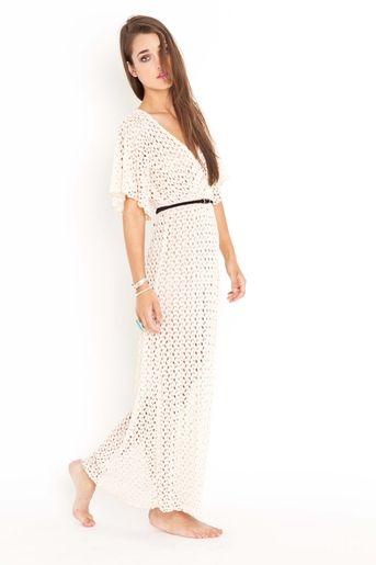 Crochet Kimono Dress