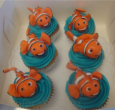 Finding Nemo cupcakes from the Cupcake Shop