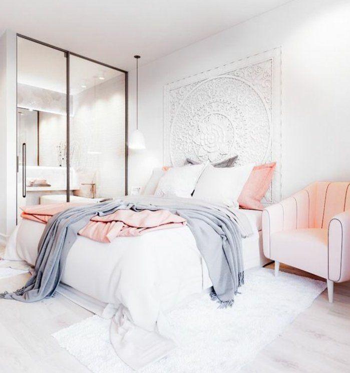 parure de lit en gris rose quartz et
