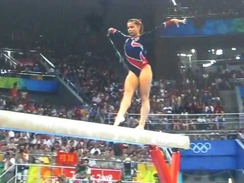 Shawn Johnson's winning Beam Routine olympics 2008