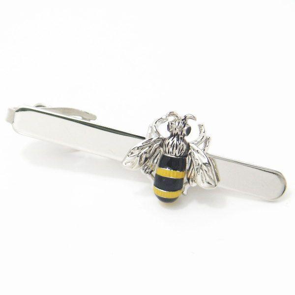 【レビューで送料無料】あっ、ハチが止まってるよ~!!ブンブン蜜蜂のタイピン(ネクタイピン)【カフスマニア】【あす楽対応】【楽ギフ_包装選択】【楽ギフ_メッセ入力】【楽天市場】