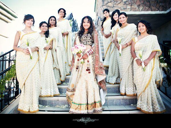 Fabulous Indian Bridal Party by AaronEye Photography | MaharaniWeddings.com