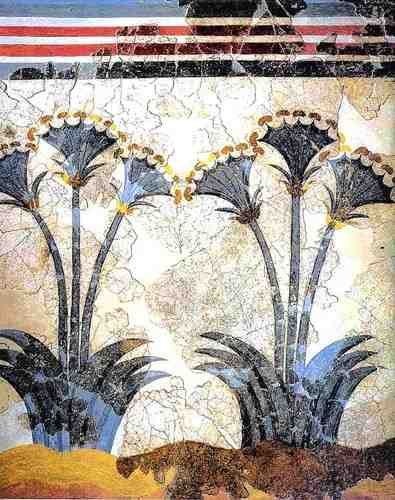 miamou:    Minoan Sea Daffodils  Late Bronze age  painted some time before 1630 BC  Akrotiri, Thera