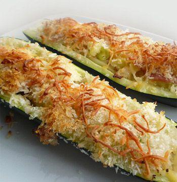 Abobrinha recheada com cenoura e gengibre - Receitas - Receitas GNT
