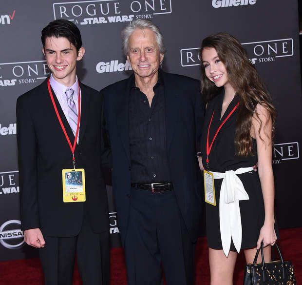 Michael Douglas avec ses enfants Dylan et Carys à la première