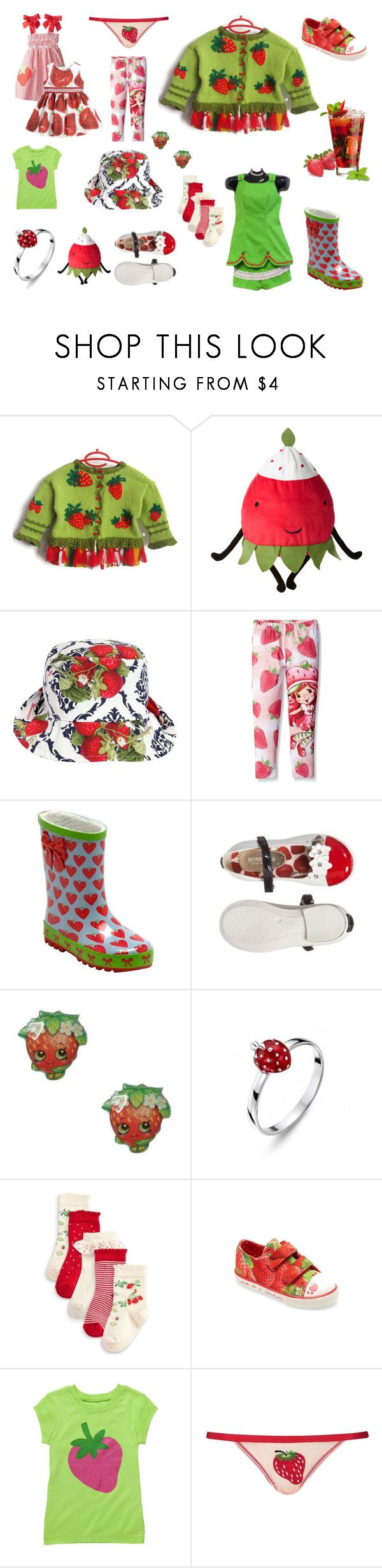 """""""Strawberry Girlish"""" by savenna-zlatchkine on Polyvore featuring Monnalisa, Start-rite, claire's, Topshop, Spring, girl, strawberry, toddler and children"""