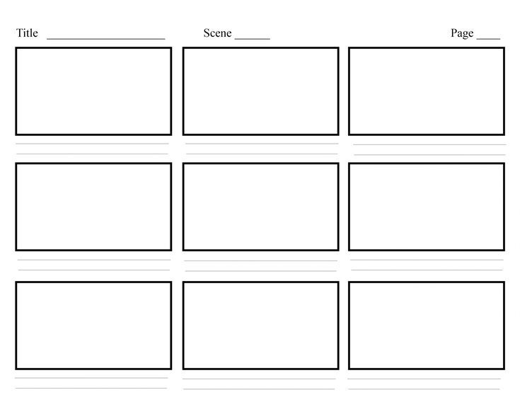 Storyboard Template Printable Find All Storyboard Storyboard