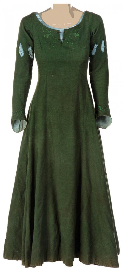 Lot: Susan Pevensie green battle dress., Lot Number: 0289, Starting Bid: $800, Auctioneer: Profiles in History, Auction: The Expendables & Hollywood 68 Auction, Date: October 20th, 2014 EDT