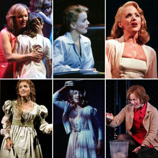 Alice Ripley: Mrs. Walker- The Who's Tommy, Betty Schaefer-Sunset Boulevard, Violet Hinton-Side Show, Fantine-Les Miserables, Janet Weiss-The Rocky Horror Show, Diana Goodman-Next to Normal