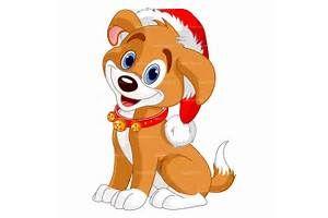 Клипарт рождественские собаки по лицензии роялти-фри векторный дизайн 800х800