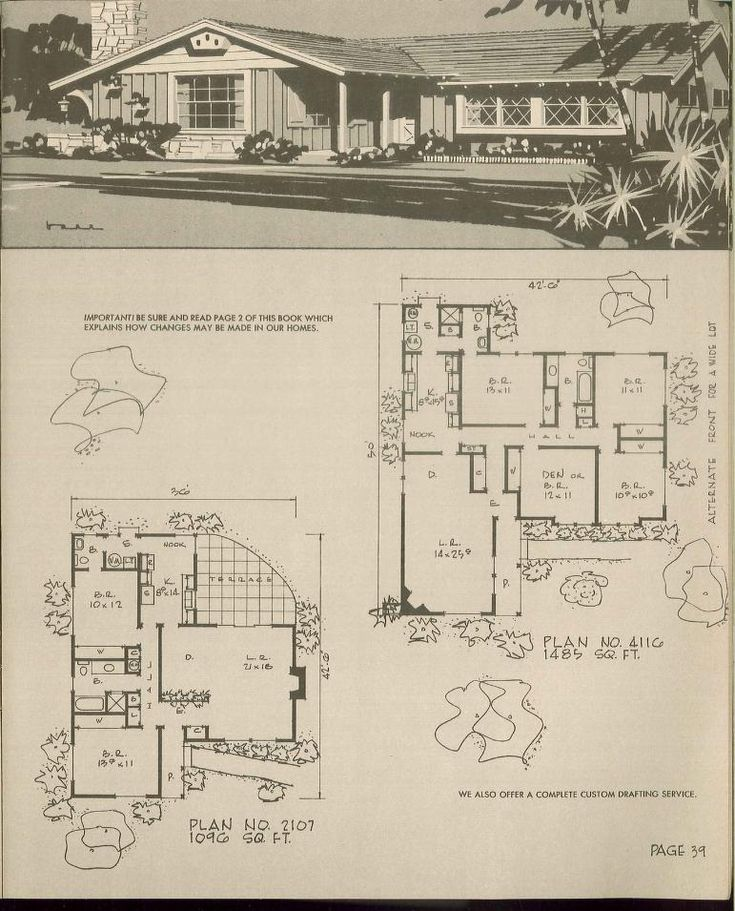 221 best ranch house images on pinterest ranch for Vintage ranch house plans