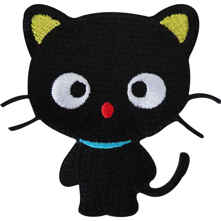 Lucky Black Cat Embroidered Iron / Sew On Patch Clothes Jeans T Shirt Bag Badge | eBay