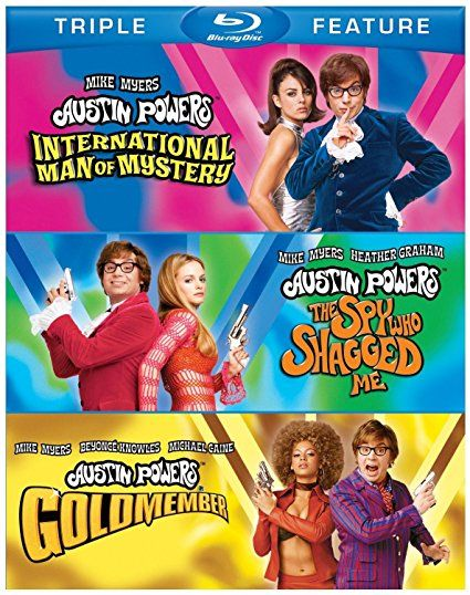 AUSTIN POWERS Blu Ray TRIPLE Feature Set (Includes all 3 Austin Powers Movies)
