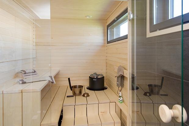 Lapplin Lumo - Sauna -> pieni, mutta kuitenkin mahtuu, tyylikäs