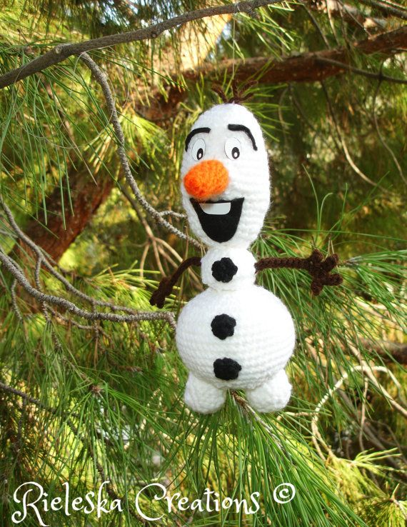 Crochet pattern pdf amigurumi- Olaf the snowman From Frozen size : 20 cm , 8 inches  Price is for the PATTERN only, not the finished product.  There is no