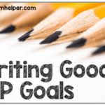 I have gotten a bunch of emails lately about IEP goal writing and while I feel like I could write a long, rambling novel about this topic – I will try to keep this short and sweet. I know we all know about IEP goals being measurable. But what does measurable really mean? And how …