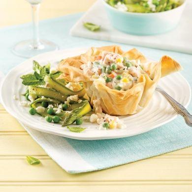 Feuilletés au saumon et légumes - Soupers de semaine - Recettes 5-15 - Recettes express 5/15 - Pratico Pratique