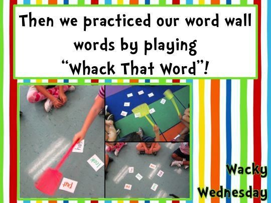 "Today was ""WaCkY"" Wednesday! I hope the kids had as much fun as I did!               Find the centers HERE .        Yes, there were WaCKy th..."